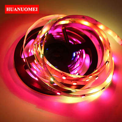 5M 30LEDs APA107 LED Strip APA102 Digital Tape Light White PCB IP20 5050 SMD RGB Addressable Ambilight TV Lights Flexible Strips