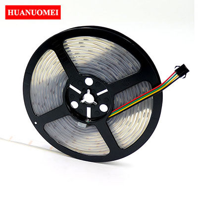 5V 30LEDs/m LED Strip APA102 Addressable 5050 SMD RGB Tape Individually White Flexible Strips Waterproof Silicon Tube LED Lights