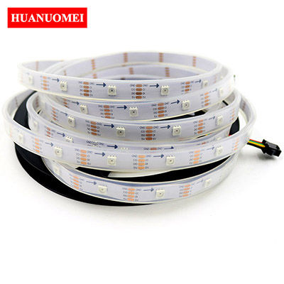 30LEDs/m APA107 LED Strip Waterproof Neon LED Tape Light 5M/Roll 30Pixels/m White PCB Digital RGB 5050 SMD 5V Ambilight TV Lights