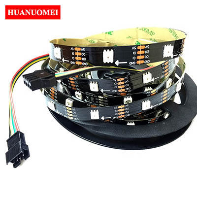 5M 30LEDs APA102 LED Strip Light Addressable Full Color Pixel Lights Ambilight 5050 SMD Black PCB IP20 DC5V 30LEDs/m Digital Tape