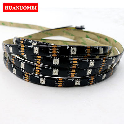 5M 30LEDs/m APA102 Smart RGB LED Strip APA107 LED RGB Pixel Light Ambilight TV Lights DC5V input Black PCB Waterproof IP65 Tape