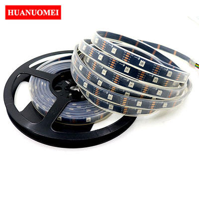 5V 30LEDs APA107 LED Strip APA102 5050 SMD LED RGB Pixel Neon Tape Light Ambilight TV Lights 5M/Roll Black PCB Waterproof IP67