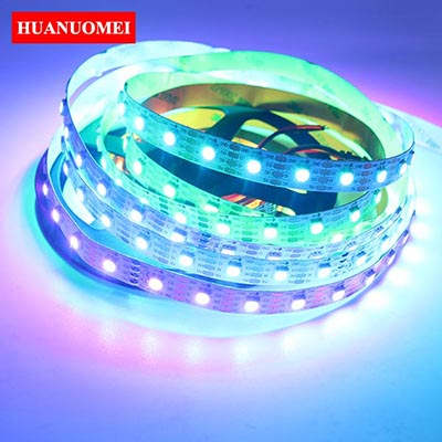 5M APA102 LED Pixel Strip Lights Tamp APA102 LED Strip 5050 SMD RGB 60LED/M with 60Pixels WHITE PCB Non-waterproof IP20 TV Tape