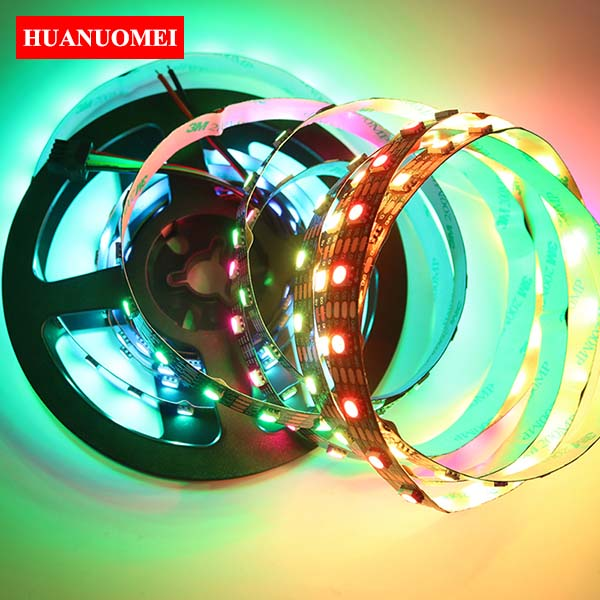 5M APA-102C LED Strip Light Digital RGB APA102 LED Pixel Strip TV Tape 5V 60LEDs/m with 60Pixels/m BLACK PCB Non-waterproof IP20