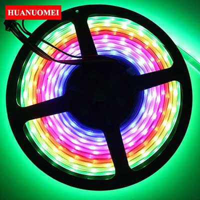 5M/Roll APA102 60LEDs 5050 SMD RGB LED Strip Waterproof IP67 Pixel LED Tape Light DC5V Black PCB RGB Tape TV Digital Strips Lamp