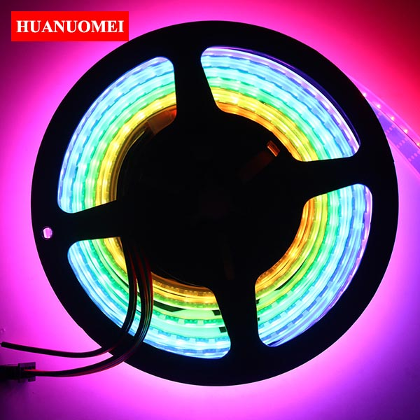 2M 144LEDs/m APA107 LED Strip APA102 Addressable 5050 SMD RGB LED Pixel Strip Tape TV Light Tape DC5V BLACK PCB Waterproof IP67