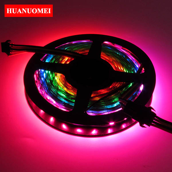 5M 72LEDs/m APA102 LED Strip Light Smart 5050 SMD RGB LED Tape RGB Digital 5V Ambilight TV Lights White PCB Non-waterproof IP20