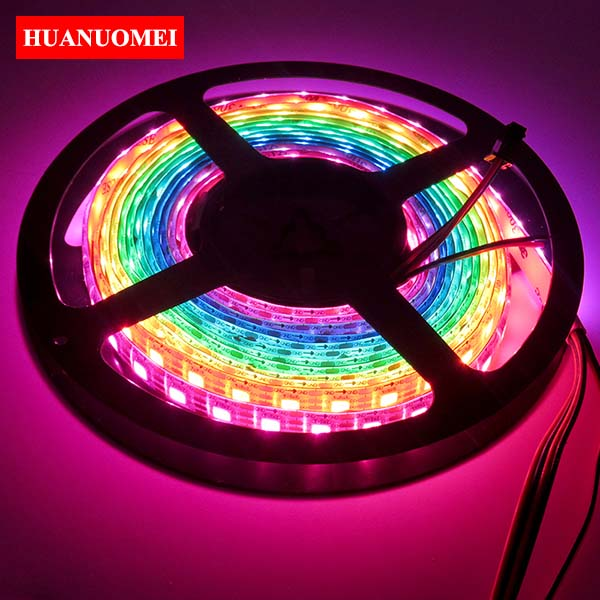 5V 72LEDs/m APA107 LED Strip Waterproof IP65 Addressable Digital Tape 5050 SMD RGB Pixel Ambilight Lights TV 5M/Roll White PCB