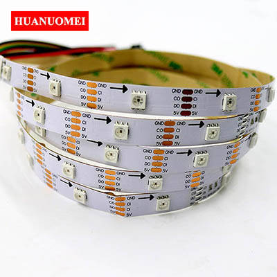 5M 32LEDs APA102 LED Strip Light Addressable Digital LED RGB 5050 SMD Ambilight TV Lights Tape 5V WHITE PCB Non-waterproof IP20