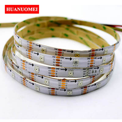 Waterproof LED Strip APA102 32LEDs/m Digital RGB Pixel Light 5050 SMD Flexible Tape Ambilight TV LED Lights 5V 5M/Roll WHITE PCB