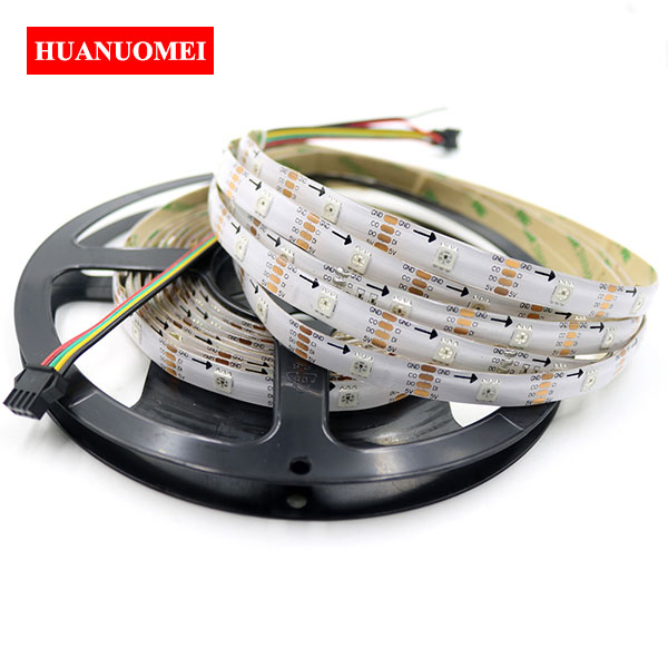 5V 32LEDs/m APA107 LED Strip APA102 Digital RGB Pixel Light 5050 SMD Flexible Tape Ambilight TV 5M/Roll WHITE PCB Waterproof IP65