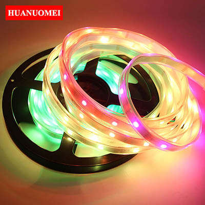 5V 32LEDs/m APA102 RGB LED Strip Magic Digital Dream Color 5050 Pixel Tape Light Ambilight TV 5M/Roll WHITE PCB Waterproof IP67