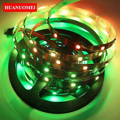 5M 32LEDs/m APA102 LED Pixel Strip Light 5050 SMD RGB Flexible LED Tape Ambilight TV Lights 5M/Roll BLACK PCB Non-waterproof IP20