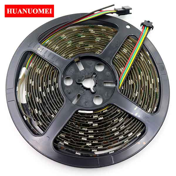 5V 32LEDs APA102 LED Pixel Strip Light 5050 SMD RGB Digital Flexible Tape Ambilight TV Lights 5M/Roll Black PCB Waterproof IP65