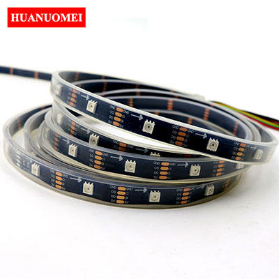 DC5V 32LEDs/m APA102 LED Strip 5050 SMD Digital RGB Tape Pixel Strip Light Ambilight TV Lights 5M/Roll BLACK PCB Waterproof IP67