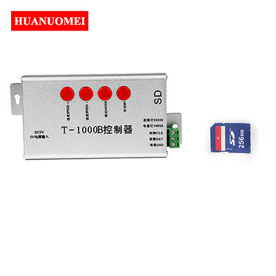 T-1000B SD Card LED Pixel Controller Programmable SPI Signal WS2811 WS2812 SK6812 WS2813 LPD6803 Digital Full Color LED Dimmer